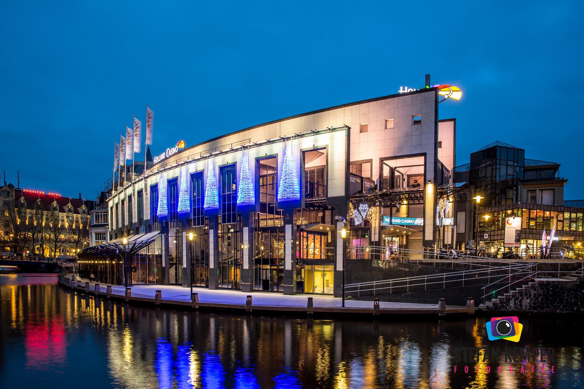 Holland casino Amsterdam kerstverlichting